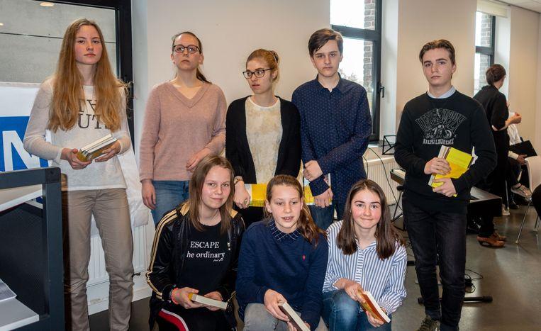 De winnaars van Junior Journalist in Maldegem.