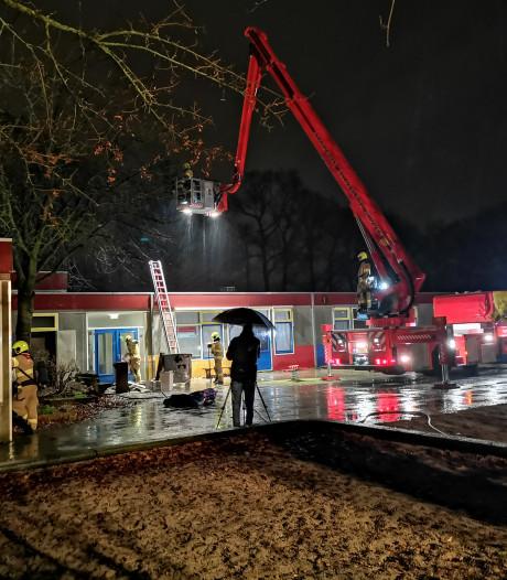 Brand bij voormalige school in Ede