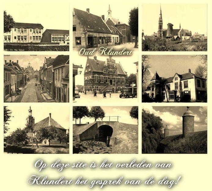 FB-pagina Klundert in Vroeger Tijden, compilatie van diverse oude foto's.