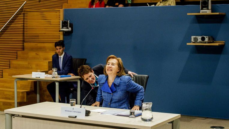 Tineke Netelenbos, voorafgaand aan de parlementaire enquêtecommissie Fyra, donderdag. Beeld anp
