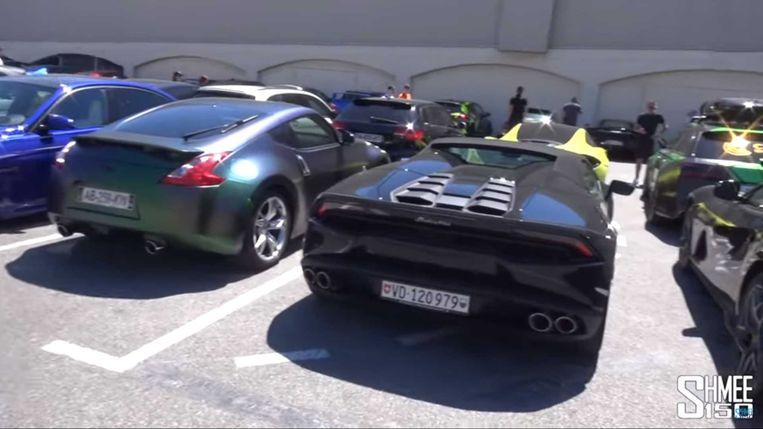 In beslag genomen supersportwagens