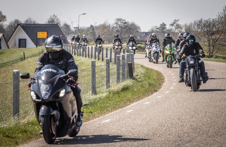 Afgelopen weekeinde klaagden veel mensen over groepen motorrijders. Beeld ANP