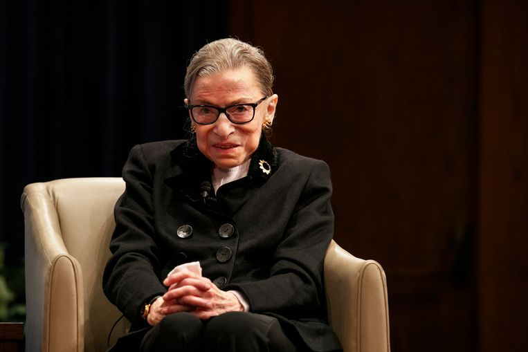 Ruth Bader Ginsburg eind oktober.