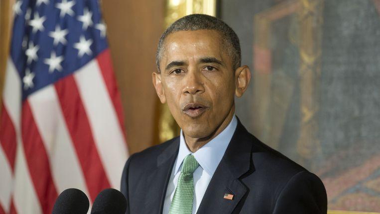 De Amerikaanse president Barack Obama. Beeld null