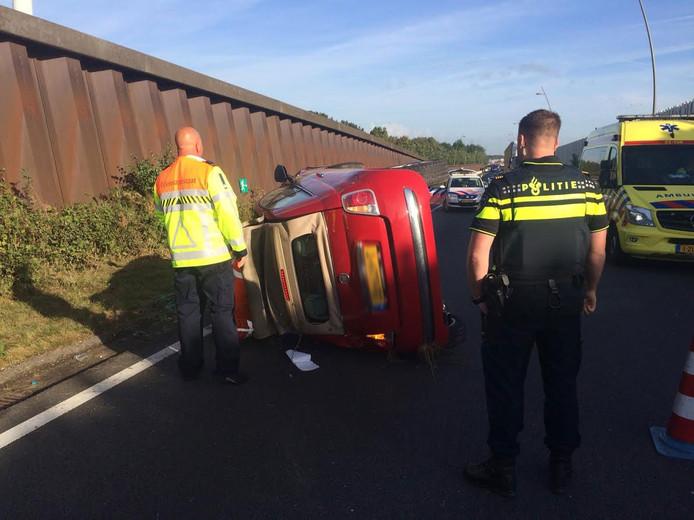 De bestuurder raakte gewond