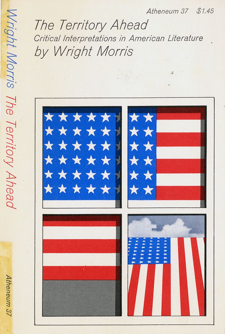 Wright Morris: The Territory Ahead. Omslag Milton Glaser. Atheneum, 1973. Beeld