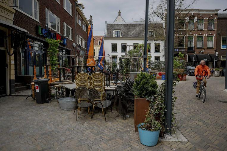Gesloten horeca op het Utrechtse Neude.  Beeld ANP