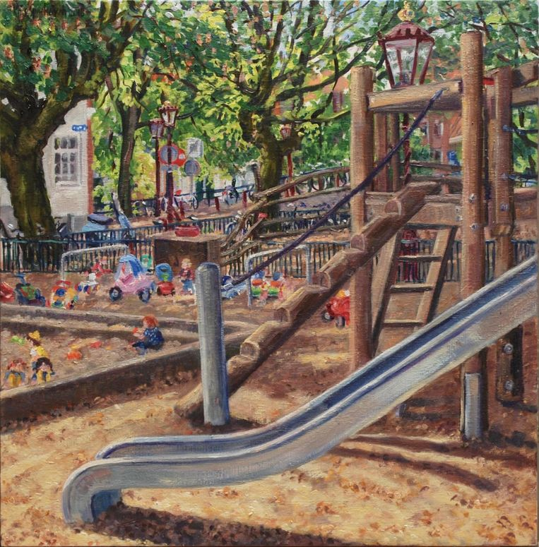 Speeltuin op de Herenmarkt Beeld Kris Spinhoven