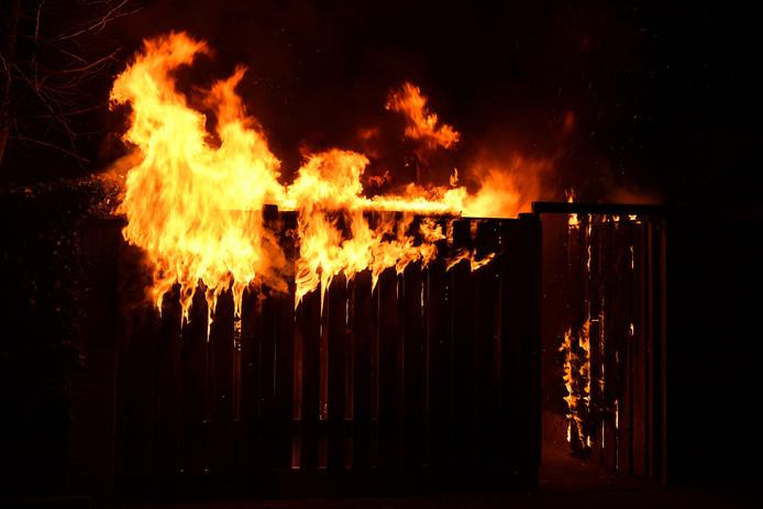 Brand in schuurtje in Valkenswaard