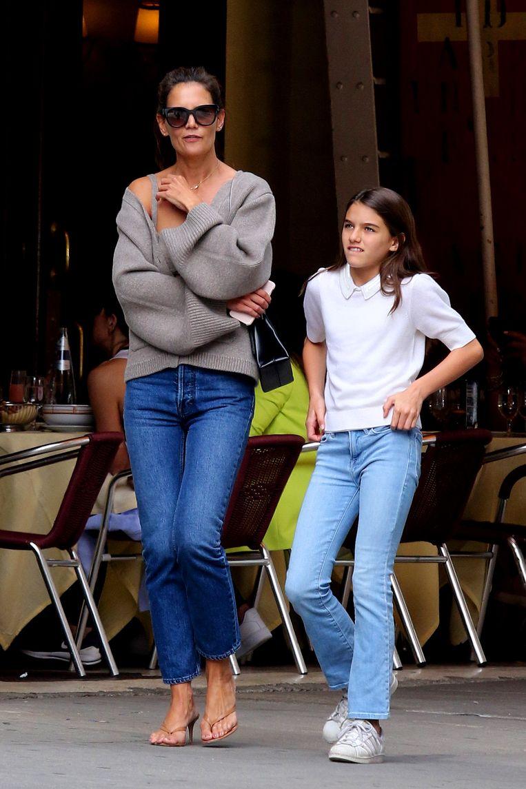 Katie Holmes en Suri Cruise in Downtown Manhattan.