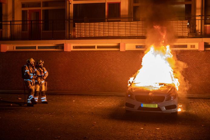 Autobrand in Zeist.