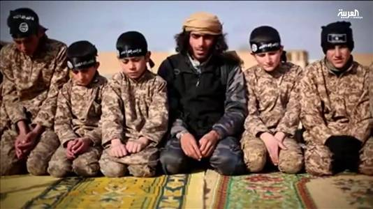 Kalifaatkinderen in IS-gebied.