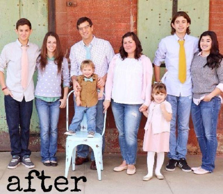 Een trotse Joni Edelman met haar gezin.