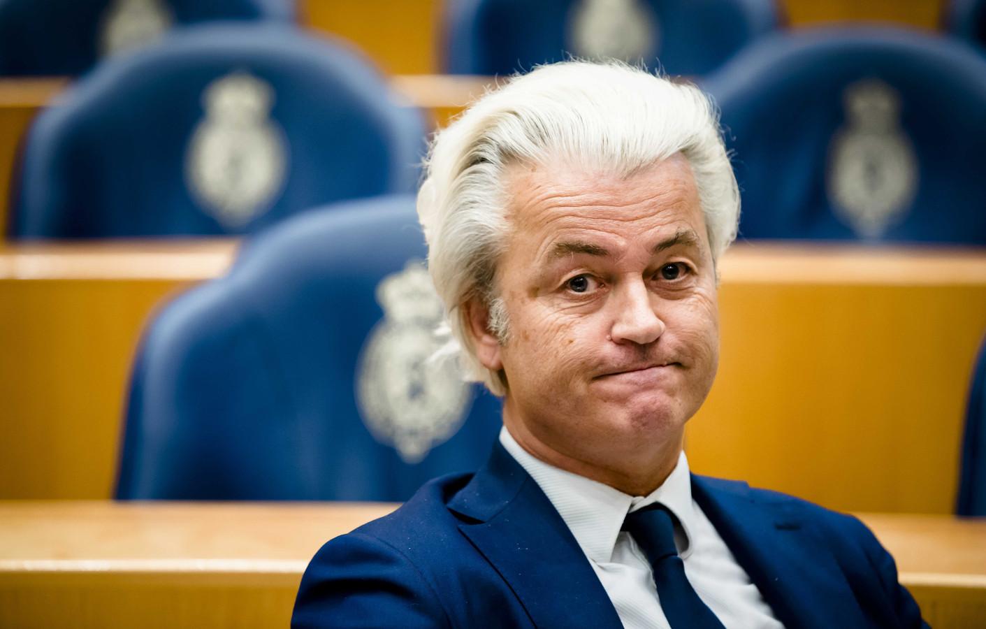 Geert Wilders (PVV) tijdens een Tweede Kamerdebat.