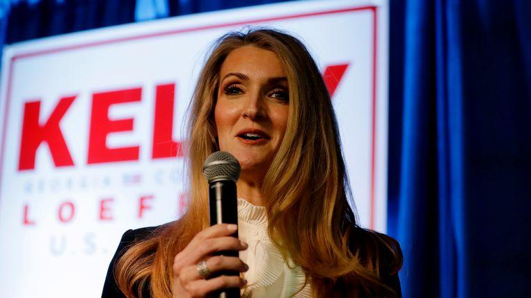 De Republikeinse Kelly Loeffler uit Georgia. Beeld AP