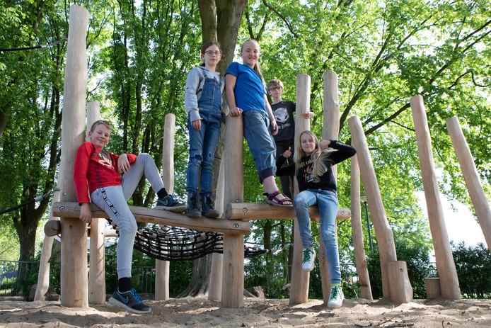 Ouders van leerlingen van vrije school De Strijene in Oosterhout hebben de schoolpleinen opgeknapt. Bij de wat oudere kinderen vallen vooral de nieuwe klimmogelijkheden in de smaak.