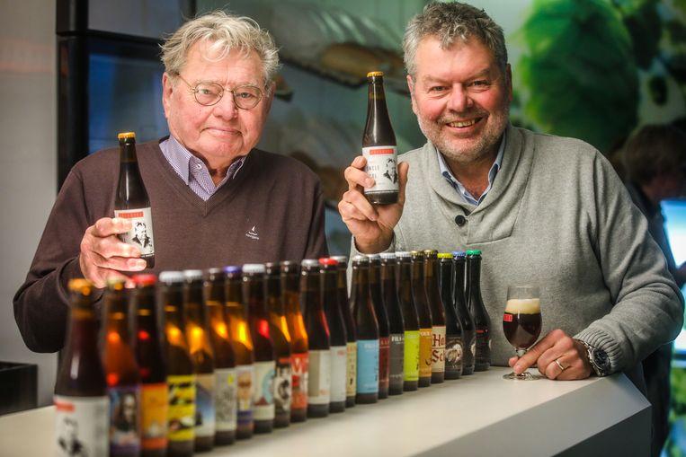 Brouwer Luc Vermeersch (r) noemde het nieuwe biertje naar z'n nonkel Pol (l).