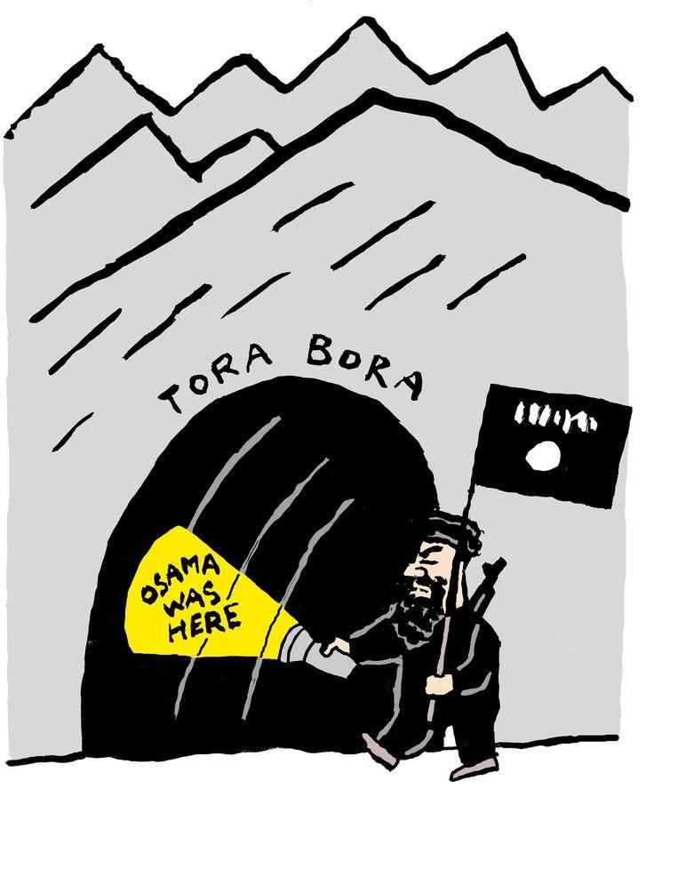 IS-leider Abu Bakr al-Baghdadi betrekt de vroegere grot van Osama bin Laden in Tora Bora. Beeld Bas van der Schot
