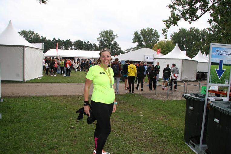 Sandra Golverdingen na de finish Beeld Eigen Foto