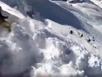 VIDEO. GoPro-camera legt vast hoe skiërs plots worden meegesleurd door lawine in Oostenrijk