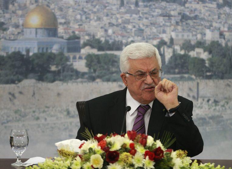 Palestijnse president Mahmoud Abbas Beeld ap