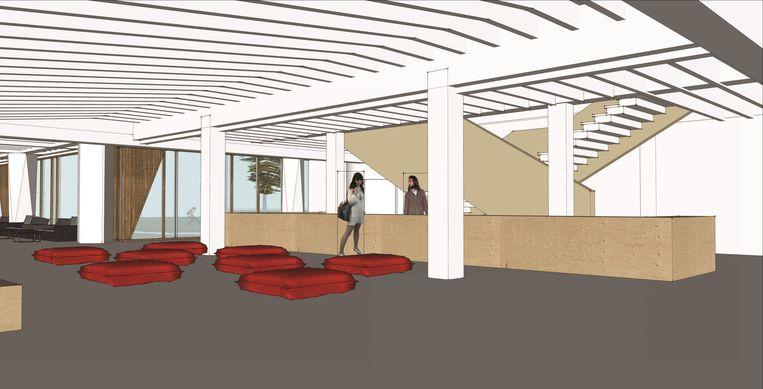 De toekomstige lobby van muziekcentrum,Track.
