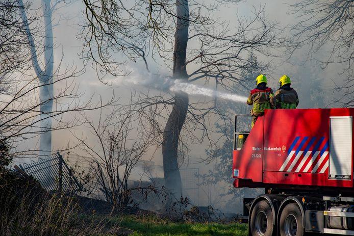 Schuurbrand aan de Sprokkelveld in Milsbeek.