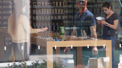 Apple Store in Brussel opent weer onder strenge voorwaarden