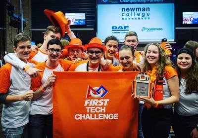 Eindhovens scholierenteam 'Casimir Tech' wint tickets naar robotwedstrijd VS