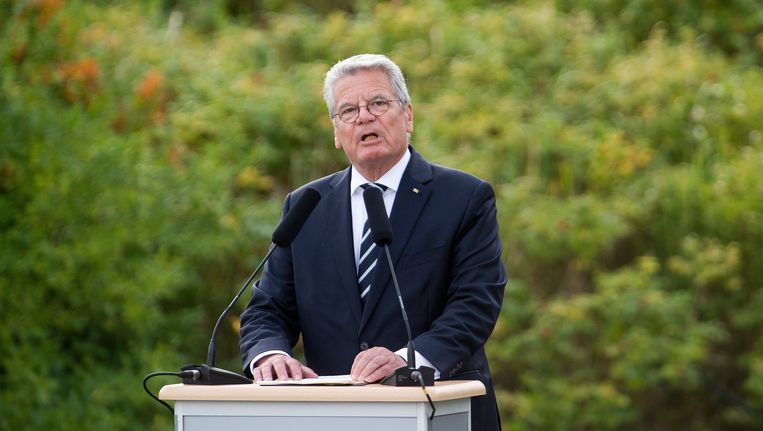 De Duitse president Joachim Gauck. Beeld epa