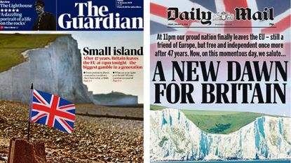 """Van """"nieuw tijdperk voor Groot-Brittannië"""" tot """"grootste gok in generatie"""": zo verschillend blikken Britse kranten vooruit op brexit"""