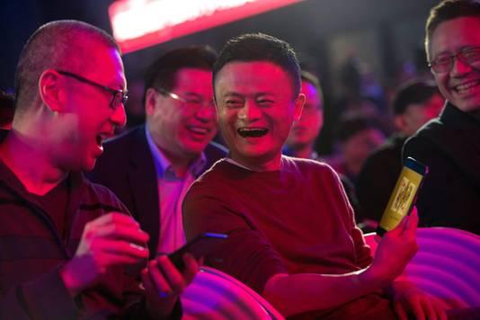 Jack Ma, de oprichter van Alibaba tijdens de galashow