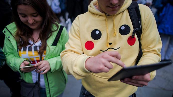 Twee Pokémon Go-spelers