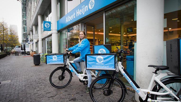 Ah stopt alweer met fietsbezorging aan de Zuidas Beeld AH to Go