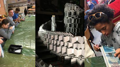 Leerlingen MPC Sint-Franciscus Strijtem werkten mee aan de Boekentoren van Babel