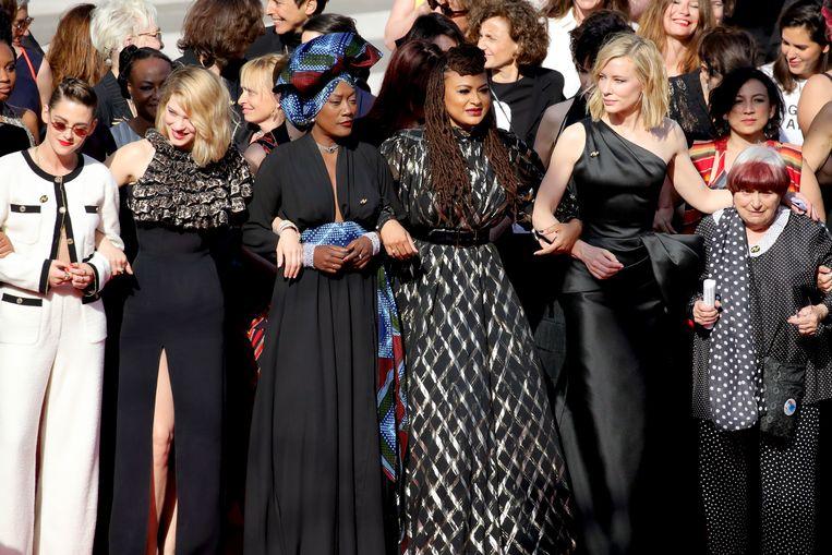 Kirsten Stewart, Lea Seydoux, Khadja Nin, Ava DuVernay, Cate Blanchett en Agnes Varda.