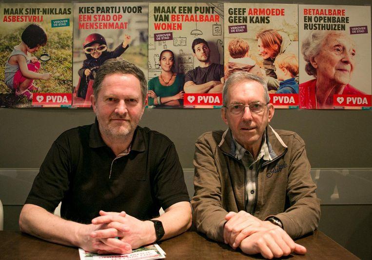 Jef Maes en Jan Vandeputte van de PVDA.