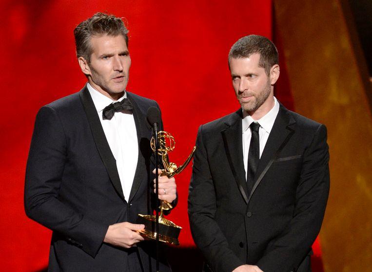 David Benioff, left en D.B. Weiss krijgen een Emmy voor hun 'fantastisch schrijfwerk' voor de dramaserie Game of Thrones. Walt Disney kondigde vandaag aan dat er een nieuwe reeks Star Wars-films gaat komen die wordt gemaakt door de makers van de immens populaire serie Game of Thrones.