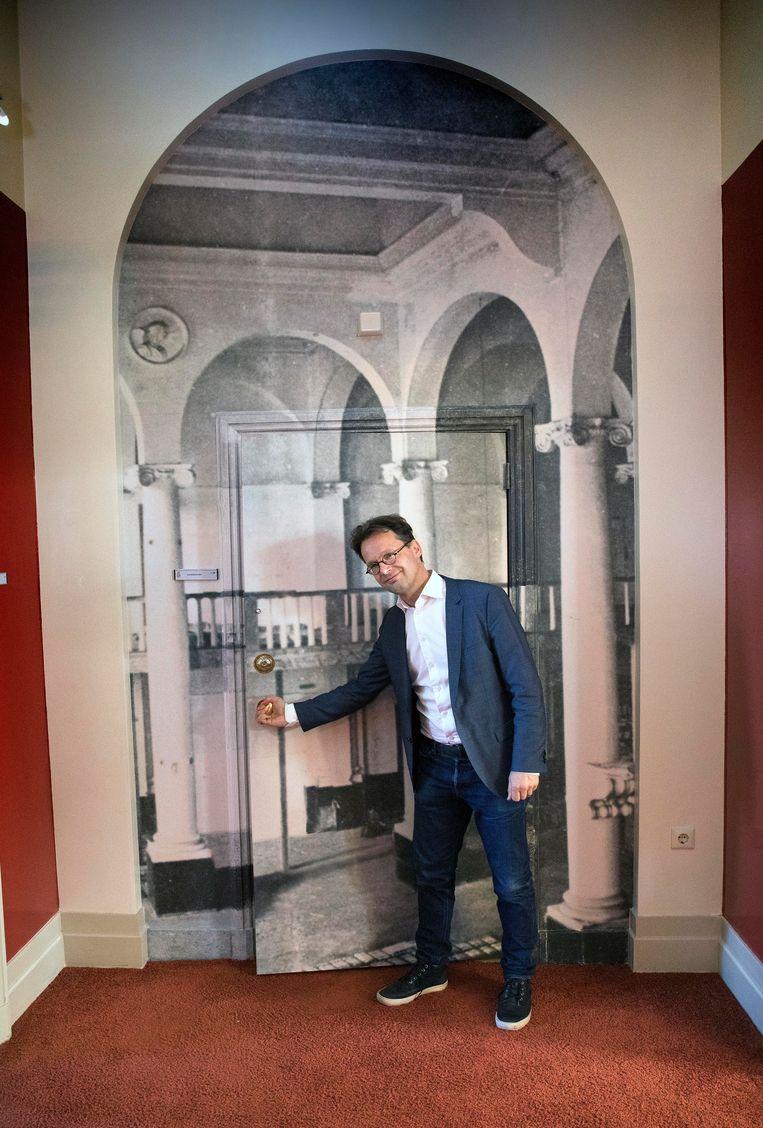 Waar ooit de Hofkapel stond, is nu een toilet. Beeld Werry Crone