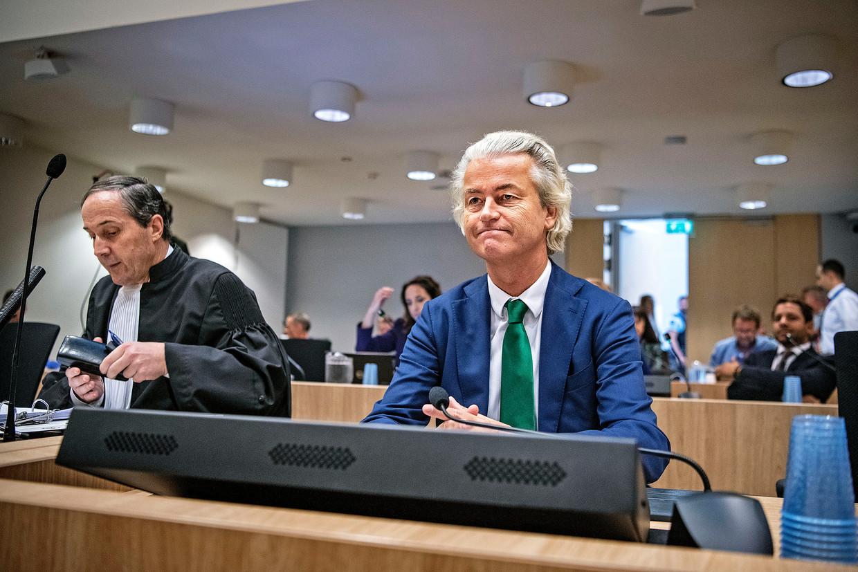 Geert Wilders voor de rechter, misschien voor het laatst. Beeld Guus Dubbelman / de Volkskrant