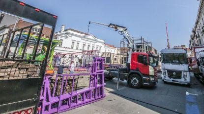 Opbouw Paasfoor gestart: zeven wagens getakeld op Casinoplein