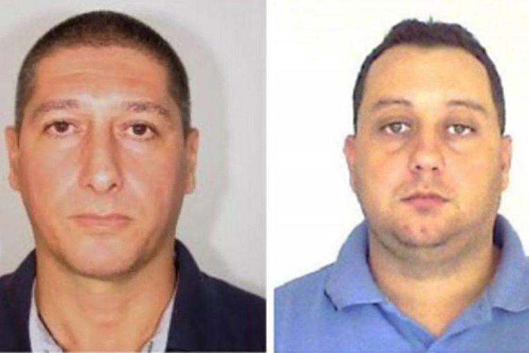 Ronnie Lessa (L) en Elcio Vieira de Queiroz (R), de twee verdachten van de moord op Franco.
