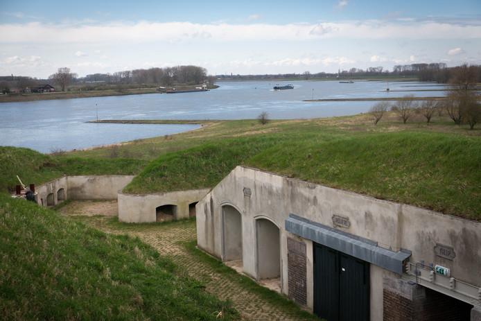 Blik op Fort Pannerden.