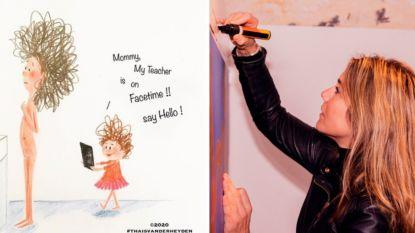 """Hollywoodsterren in de ban van Vlaamse illustratrice: """"Mijn coronatekeningen worden overal ter wereld opgepikt"""""""