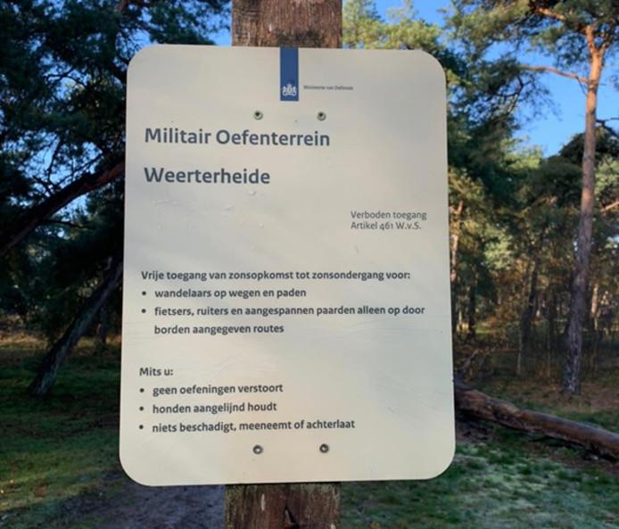 Militair oefenterrein op Weerter- en Budelbergen.