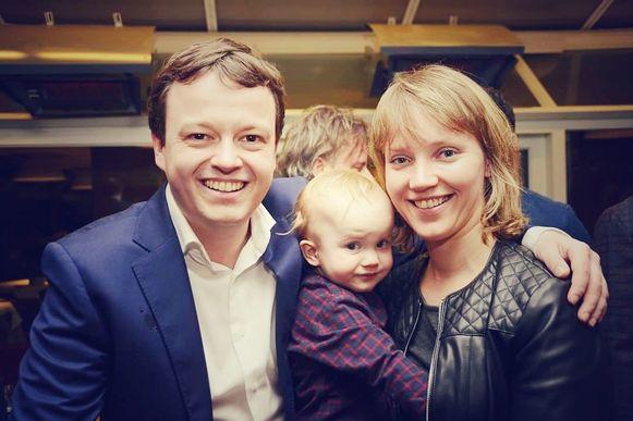 Nick Wenmaekers met zijn gezin