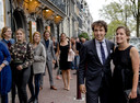 Jesse Klaver met zijn vrouw Jolein voor Carré.