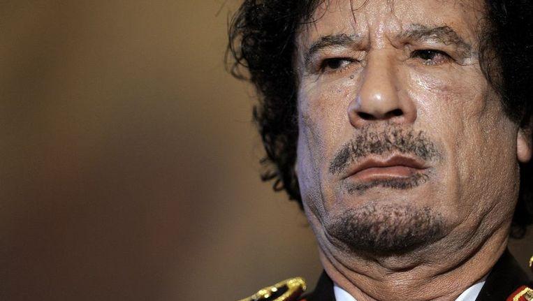 De Libische leider Muammar Kaddafi © anp Beeld anp