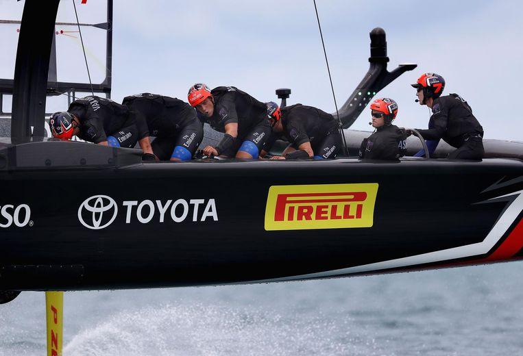 Niet alleen de Formule 1 is een racend laboratorium, ook de zeilsport blijft innoveren. Illustratief zijn de hometrainers. Beeld afp