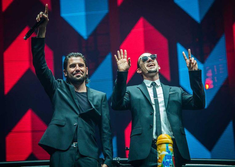 Dj-duo en broers Dimitri Vegas & Like Mike. Beeld Dustin Kort